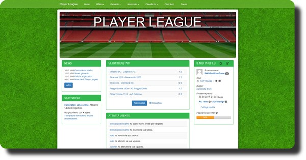 player league